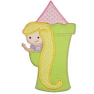 Rapunzel Applique