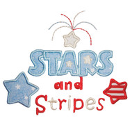 Stars and Stripes Applique