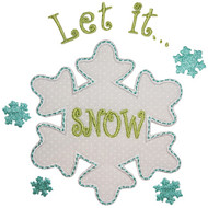 Let it Snow Applique