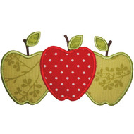 3 Apples Applique