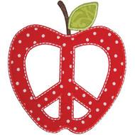 Peace Apple Applique