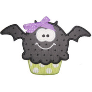 Bat Cupcake Applique