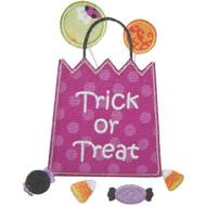 Trick or Treat Bag Applique