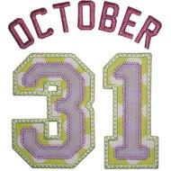 October 31 Applique