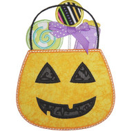 Candy Pumpkin Applique