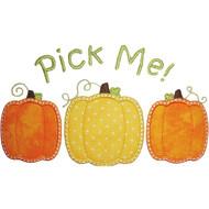 3 Pumpkins Applique