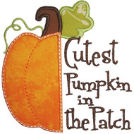 Half Pumpkin Applique