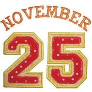 November 25th Applique