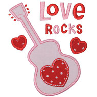 Love Rocks Applique