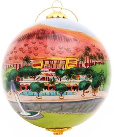 custom glass phoenician ornament