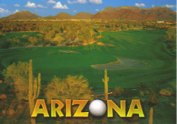Golf Arizona Postcard - Pack of 100