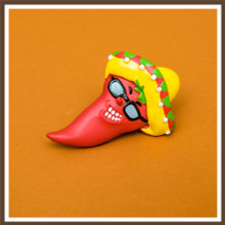 Sunglass Chili Pepper Magnet