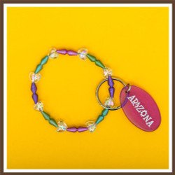 Spring Bracelet AZ Keychain