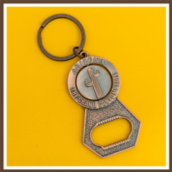 Copper Cactus / Kokopelli Spinner Bottle Opener Keychain