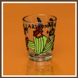 Hand Painted Cactus & Chili Shotglass
