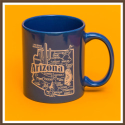Blue AZ Map Mug
