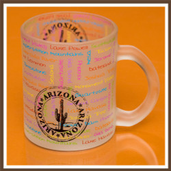 Frosted AZ Passport Stamp Mug