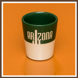 Green White Stoneware Shotglass