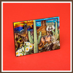 Lucite 3D AZ Collage Magnet