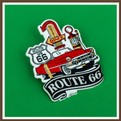 Route 66 Car Shield Magnet
