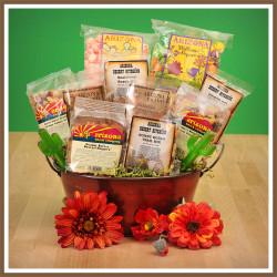 arizona snacks basket, trail mix, nuts