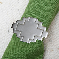 Adobe Silver Napkin Ring