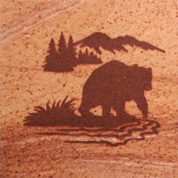 Bear Fishing Coasters - Set of 4