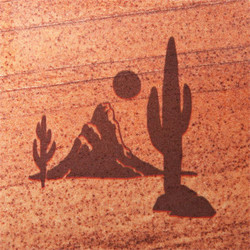 Desert Scene Coasters - Set of 4