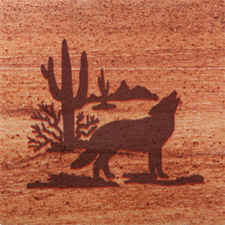 Desert Wolf Coasters - Set of 4