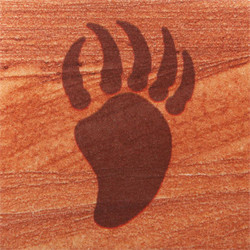 Bear Paw Coasters - Set of 4