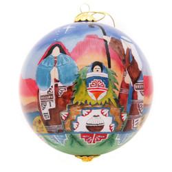 "Southwest Nativity - 4"" Ornament Set of 2"