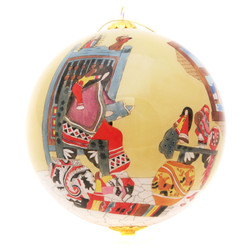 "Maestra The Teacher Storyteller - 4"" Ornament Set of 2"