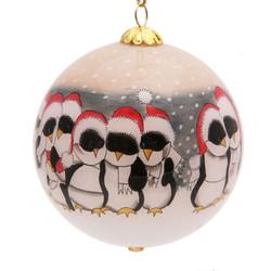 """Santa Penguins - 3"""" Ornament Set of 2"""