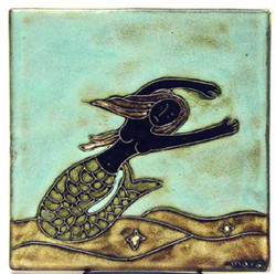 "Mara Tile 6""X6"" - Mermaids"