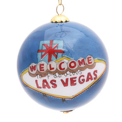 """Welcome to Las Vegas - 3"""" Ornament Set of 2"""