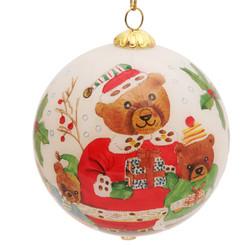 "Teddy Santa - 3"" Ornament Set of 2"