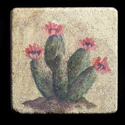 """Rustic Cactus #2 4""""x4"""" Deco Tile"""
