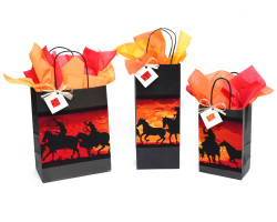 Cowboy Ropers Sunset Gift Bag