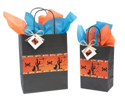 Coyote and Cactus Gift Bag-   temporarily out of stock