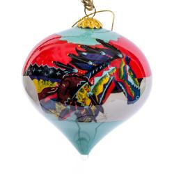 """Dancing Colors - 3"""" Top Ornament Set of 2"""