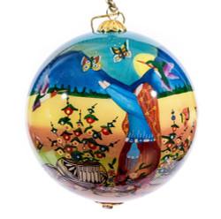"""Butterfly Storyteller - 4"""" Ornament Set of 2"""