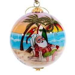 """Santa's Holiday - 3"""" Ornament Set of 2"""