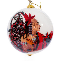"""Power of Traditions - 4"""" Ornament Set of 2"""