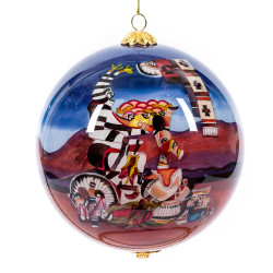"Koshare Merrymaker Storyteller - 4"" Ornament Set of 2"