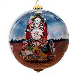 "Maria Mother Earth Storyteller - 4"" Ornament Set of 2"