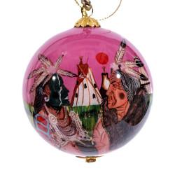 "Plains White Buffalo - 3"" Ornament Set of 2"