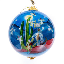 "Heaven and Nature - 3"" Ornament Set of 2"