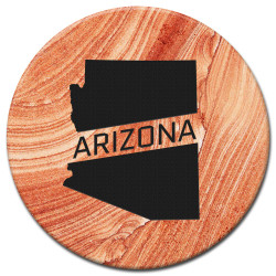 AZ State with Text