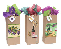 Old World Grapes Wine Gift Bag