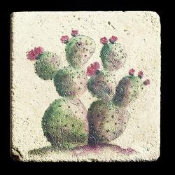 """Rustic Cactus #3 4""""x4"""" Deco Tile"""